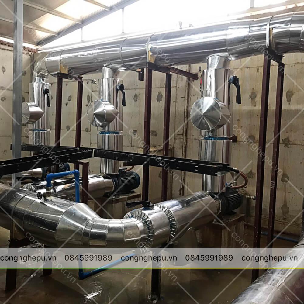 thi công cách nhiệt đường ống chiller